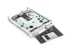 Disketteaandrijving en diskette 01 stock fotografie