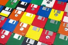 Disketten geschossen auf rechtwinkligem lizenzfreie stockfotos