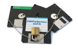 Disketten - gesichert Lizenzfreie Stockbilder