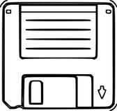 Disketten skissar Arkivbild