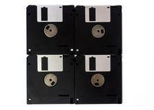 Disketten werden auf weißem Hintergrund lokalisiert stockfotografie