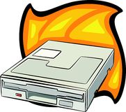 Diskettenlaufwerk lizenzfreie abbildung