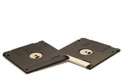 Disketter på en vit bakgrund Royaltyfri Foto