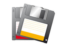 Diskettes. Illustration of two floppy disk Royalty Free Stock Photos
