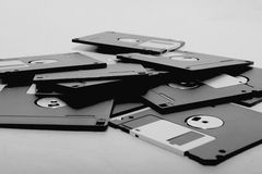 Diskettes. Picture of several black diskettes Royalty Free Stock Images