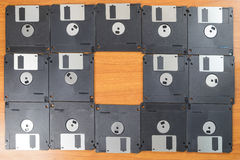 Diskettes stock foto's