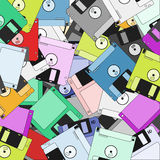Diskettes background. Creative design of colorful diskettes wallpaper stock illustration