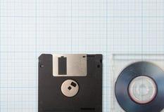 Diskettes en mini-CD Royalty-vrije Stock Afbeelding