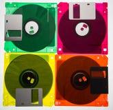 Diskettes 3/2 Pictogram van jaren '90 en vintege technologie 2 stock afbeelding
