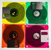 Diskettes 3/2 Pictogram van jaren '90 en vintege technologie 5 royalty-vrije stock foto