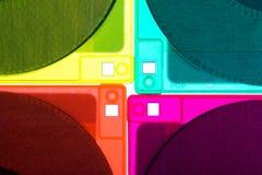 Diskettes 3/2 Pictogram van jaren '90 en vintege technologie 4 stock fotografie