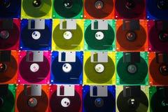 Diskettes 3/2 Pictogram van jaren '90 en vintege technologie 3 stock fotografie