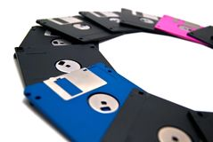 Diskettes semicircle Royalty Free Stock Photo