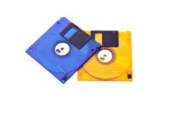 Diskettes Twee Royalty-vrije Stock Afbeelding