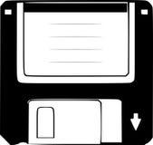 Disketteschattenbild Stockfotografie