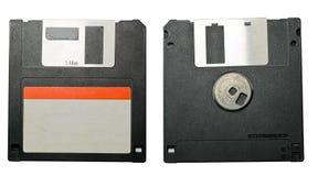 Diskettframdel och baksida Fotografering för Bildbyråer
