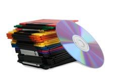 disketthög för kompakt disk Arkivfoton