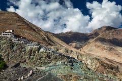 Diskit Gompa, vale de Nubra, Ladakh, Índia Fotos de Stock