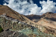 Diskit Gompa, vallée de Nubra, Ladakh, Inde Photos stock