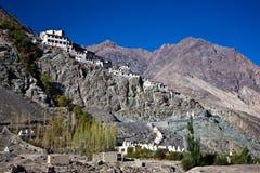 Diskitklooster, Nubra-Vallei, leh-Ladakh, Jammu en Kashmir, India Royalty-vrije Stock Afbeeldingen