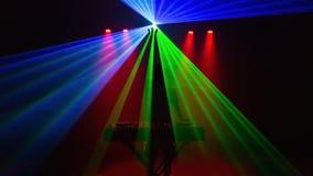 Diskjockey, DJ, Schattenbild mit Laserlicht Lizenzfreies Stockbild