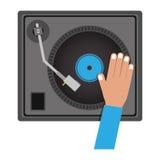 Diskjockeydesign Arkivbild