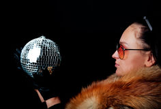 disko女孩藏品范围年轻人 免版税库存照片