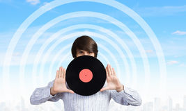 disko dj Arkivbild