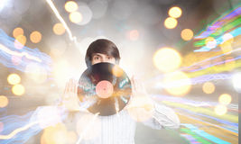 disko dj Royaltyfri Fotografi