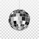 Disko- eller spegelbollsymbol Symboluteliv Retro diskoparti Vektorillustration som isoleras p? genomskinlig bakgrund vektor illustrationer