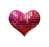 Disko heart Royalty Free Stock Images