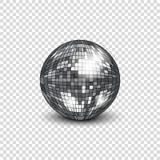 Diskoboll med skugga Spegelboll för att dekorera partier och diskon royaltyfri illustrationer