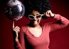 diskoflicka Royaltyfri Bild