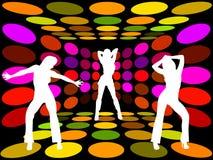 diskokvinnor Arkivbild