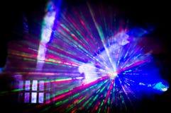 diskolaser-ljus Arkivbilder
