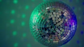 Diskospegelboll stock video
