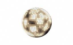 Diskospegelboll på vit bakgrund royaltyfri illustrationer