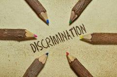 diskriminering arkivbilder