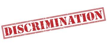 Diskrimineringstämpel på vit bakgrund stock illustrationer