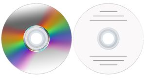 Disks. Disk from two parties for creation of the further composition (advertising, music, video Royalty Free Illustration