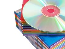 Disks. On a white background with clipping path Royalty Free Stock Image