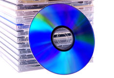 Disks. On a white background Royalty Free Stock Image