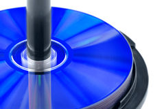 Disks. On a white background Stock Image