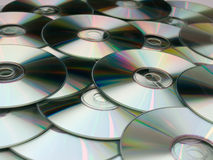 Disks. Bunch of cd or dvd Stock Photography