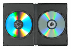 Disks in the case Royalty Free Stock Image