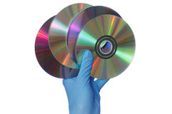 Disks with dangerous Royalty Free Stock Photos