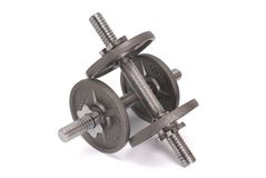 Disks for dumbbells Stock Photography