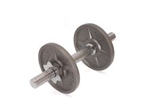 Disks for dumbbells Stock Image