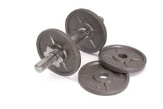 Disks for dumbbells Royalty Free Stock Image