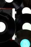 Disks and gramophone Stock Photo